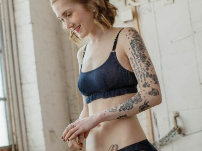 My New Pattern with Simplicity: 8711 Underwire Bralette + Ruffle Undie