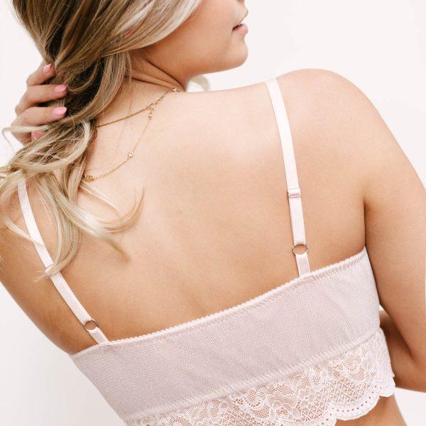 best blush pink bralette