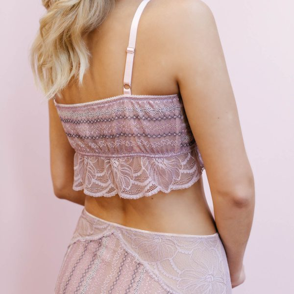 lavender bralette by Madalynne Intimates