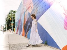 Vintage dress DIY with the Barrett lace bralette