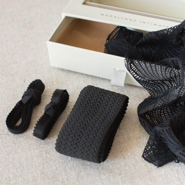 black bralette by madalynne intimates
