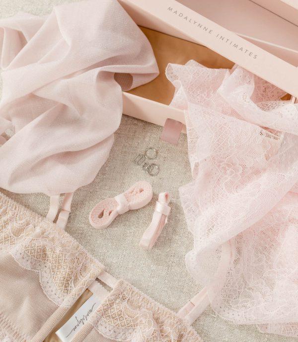 blush pink bralette