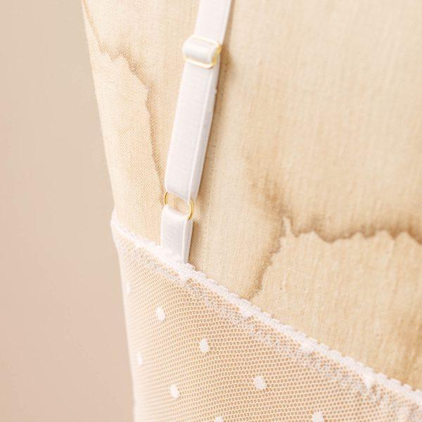 white swiss dot bralette