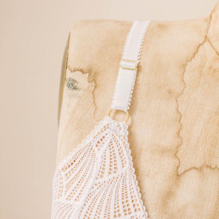 white bralette