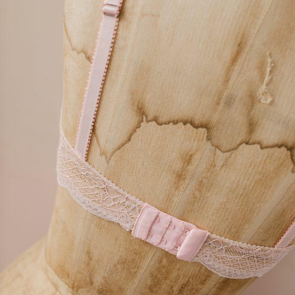 pink padded bra