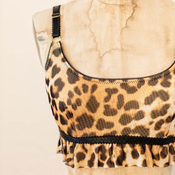 leopard bralette