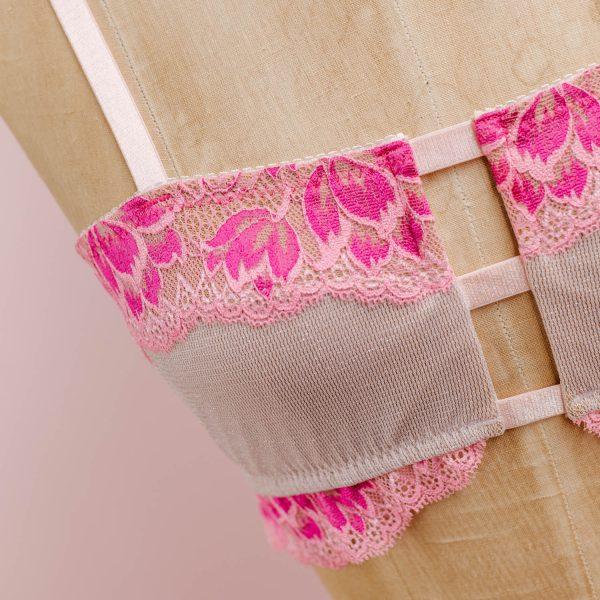 hot pink bralette by Madalynne Intimates