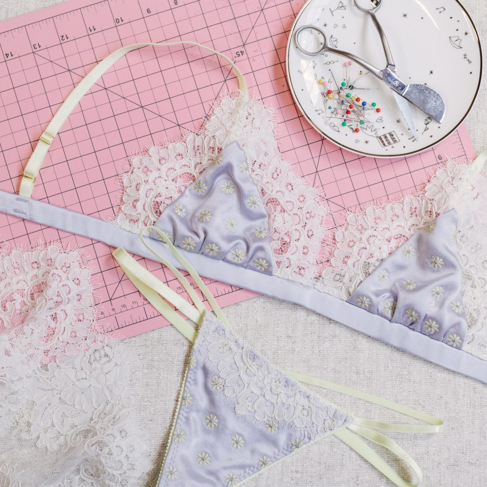 embroidered lingerie by Madalynne Intimates