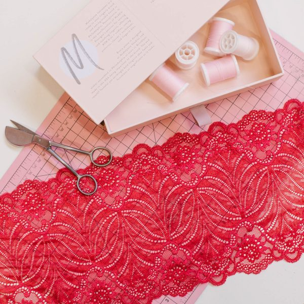 red lingerie lace by Madalynne Intimates