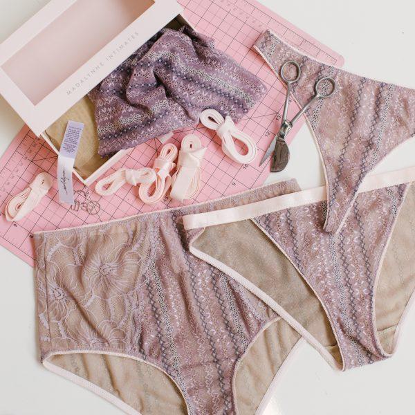 Lavender underwear by Madalynne Intimates
