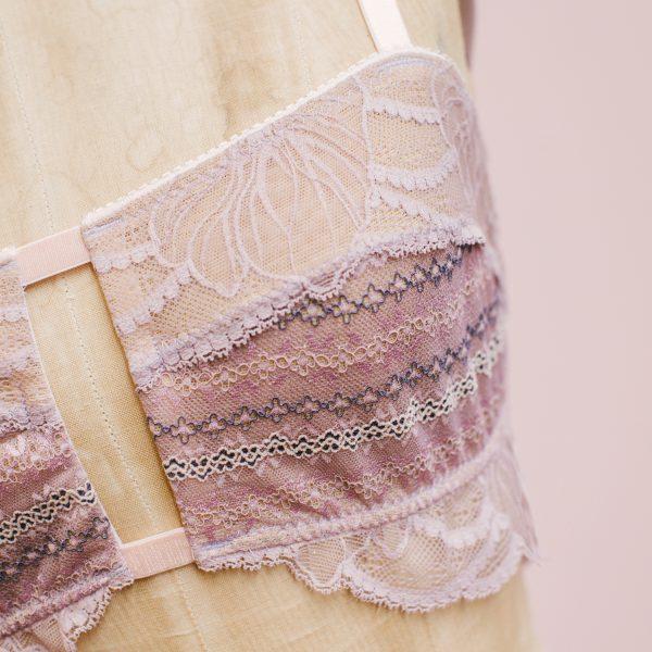 Raquel Lavender bralette by Madalynne Intimates