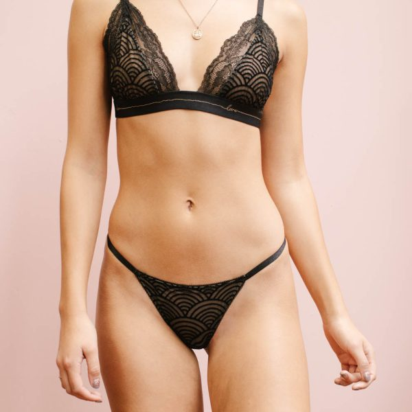 Black thong by Madalynne Intimates