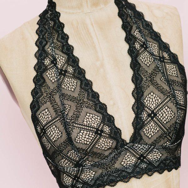 Halter bralette sewing pattern + kit by Madalynne Intimates
