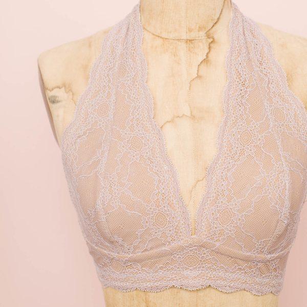 Madalynne X Simplicity 8228 halter bralette lingerie sewing bra making kit