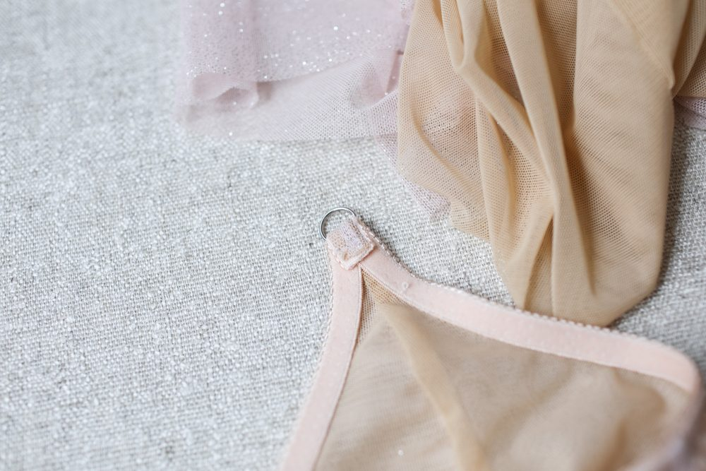 How to sew shoulder straps on a bra