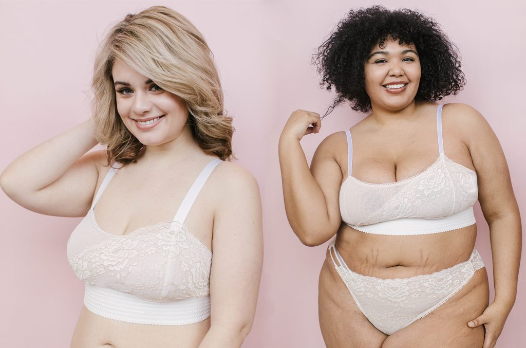 plus size lingerie versus full bust lingerie by Madalynne Intimates