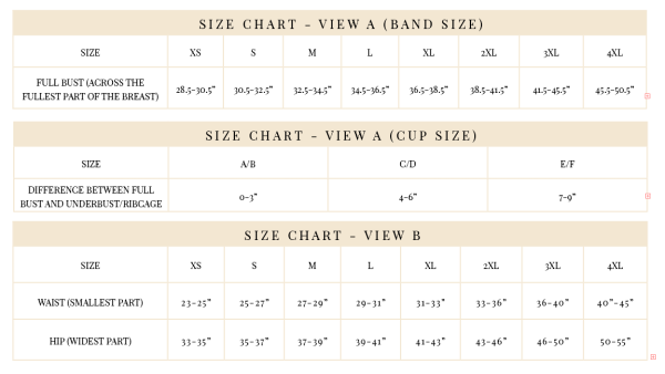 maris size chart