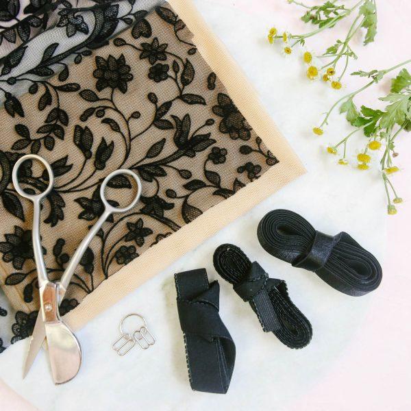 Noelle bralette sewing pattern by Madalynne Inimates